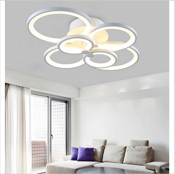 Modern Led Chandelier Lamps High White Warm Light Ring Re Chandeliers In From Lights Lighting On