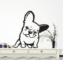 Pet Dog Wall Decal French Bulldog Melancholy Face Vinyl Sticker Home Decor High Quality Art Mural Y-2
