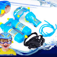 Water Gun Pistols Backpack Wrist Kids Children Summer Games Tank Pump Shotting