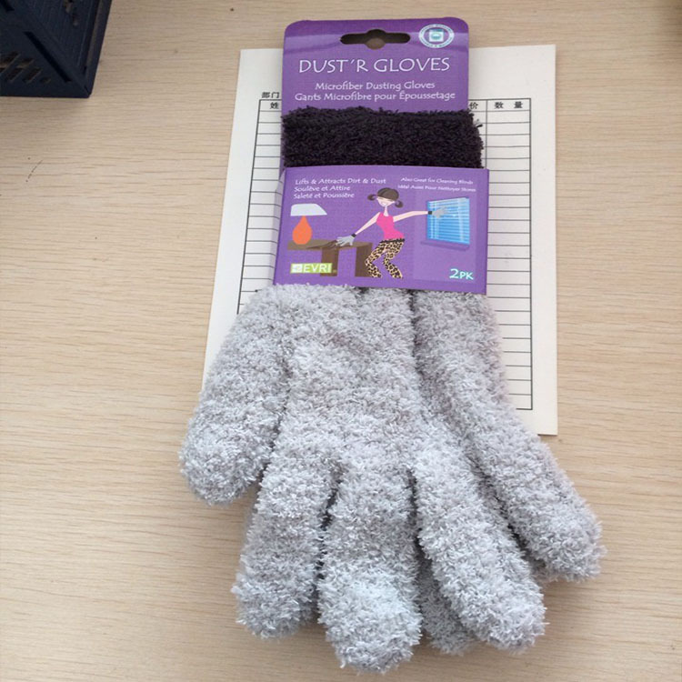 Prix pour GLV877 Haute spandex Garder Au Chaud à tricoter gants gants de Ménage poussière Corail polaire gants