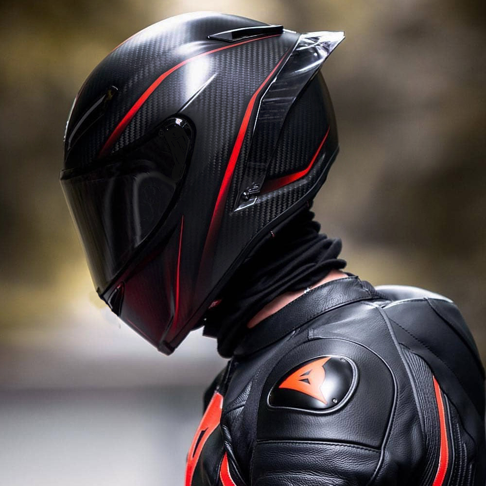Racing Full Face Motorcycle Helmet Off Road Motocross Carbon Painting Surface Kask Casco De Moto Motociclista DOT Approved