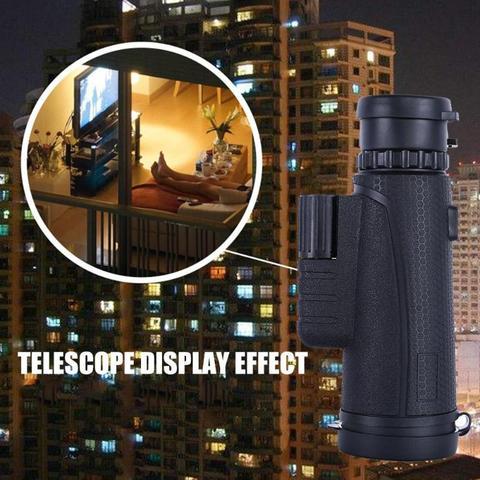 Portable Mini BAK4 Monocular Telescope 10x42 Zoom Outdoor Single-Tube Scope See Beautiful Scenery Remote Overlooking Islamabad