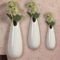 Modern White Ceramic Vase Mini Wall Decorative Fashion Vases Ceramic Artifical Flower Vase Home Decorative Small