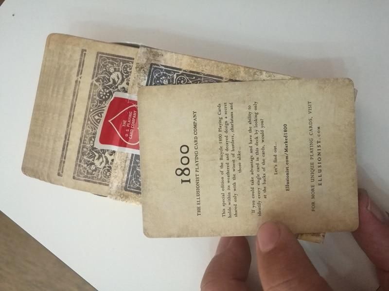1pcs Bicycle Vintage Series 1800 Deck Blue / Red Magic Cards Poker - Juguetes clásicos - foto 5