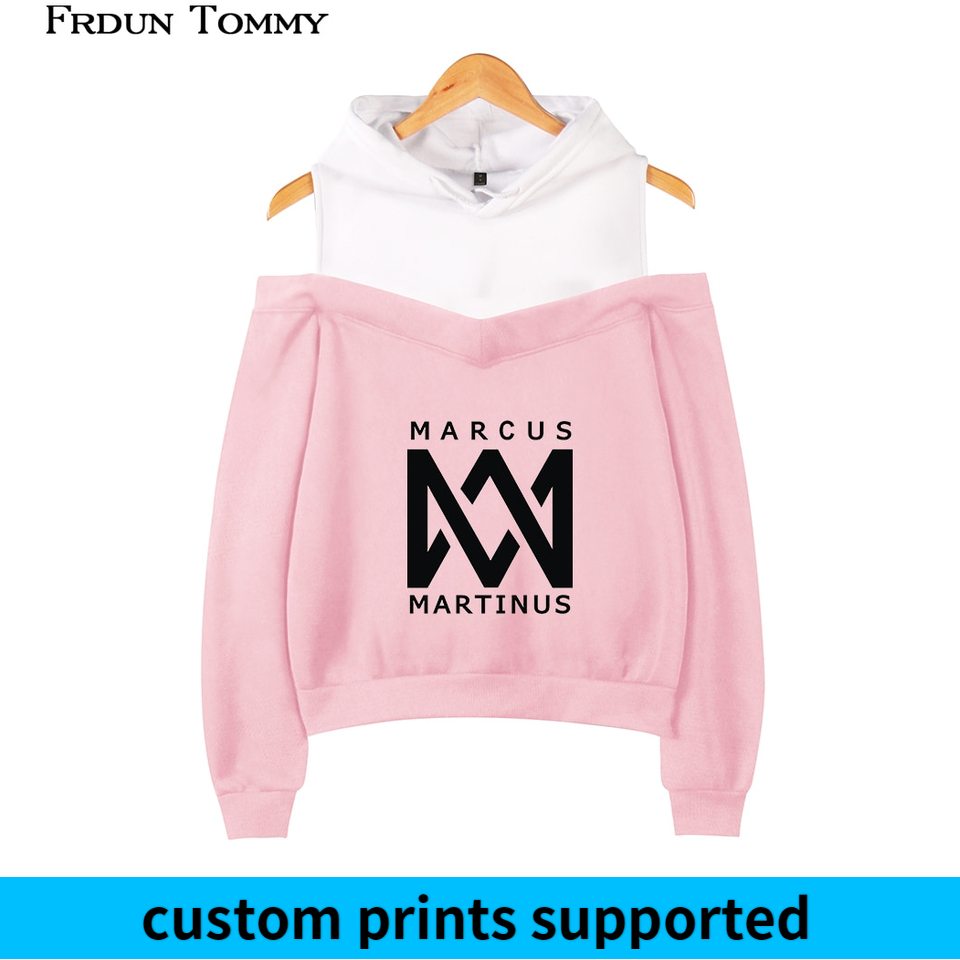 Frdun Tommy Marcus Martinus Off-shoulder Hoodies Sweatshirt Solar System 2018 New Fashion Women Exclusive Kpop Sexy Wear Custom