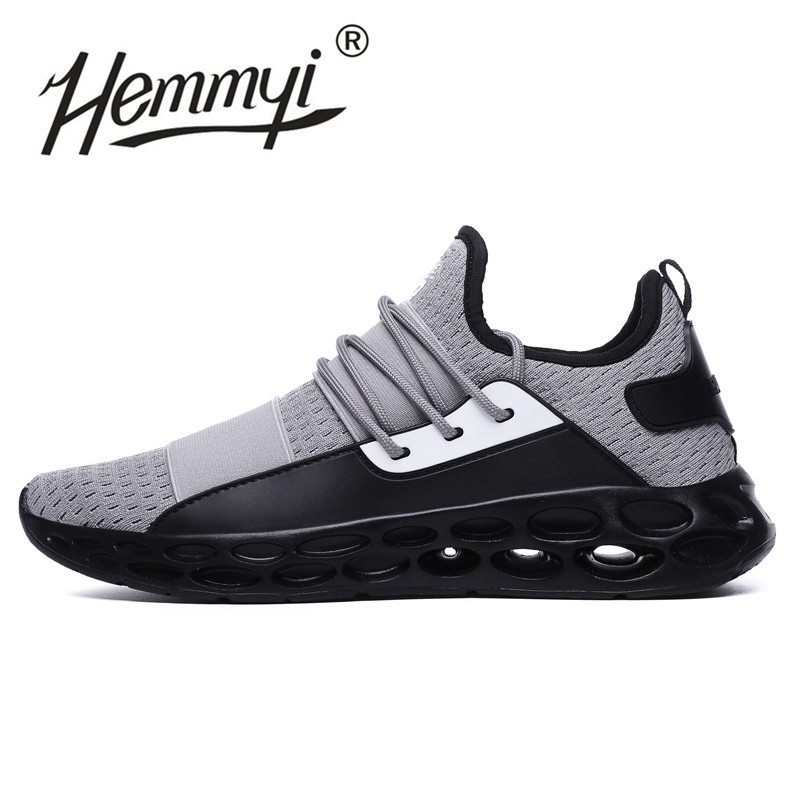 2018 Hot Sale Fashion Shoes Men Breathable Casual Sneaker Autumn Trainers Lace-up Mesh Krasovki Men Footwear Plus Size 45 46 cajacky unisex sneakers 2018 mesh casual shoes men mesh lace up male fly weave krasovki men fashion light breathable trainers