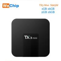 TX3 Mini Android 7.1 Smart Tv Box 2 GB 16 GB Amlogic S905W Quad Core 2.4G Wifi Soutien H.265 4 K Media Player PK H96Pro Plus Tv boîte