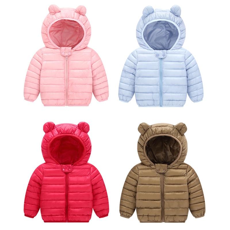 2018 Nouveau Bébé Manteaux D'hiver Vers Le Bas Coton Manteau Veste enfants Bébé Vêtements À Capuche bébé Vers Le Bas Veste Pour Garçons Et Filles