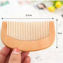 Top Compact Anti-static Natural Peach Wood Mahogany Hair Comb Pocket Fringe Comb Health Care Head Massage Hair Brush(China)