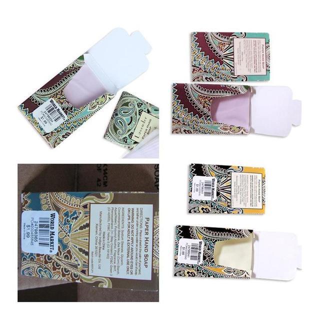 25PCS/SET Travel Soap Paper Washing Hand Bath Clean Scented Slice Sheets 25pcs/lot Disposable Box Soap Portable Mini Paper Soap 3