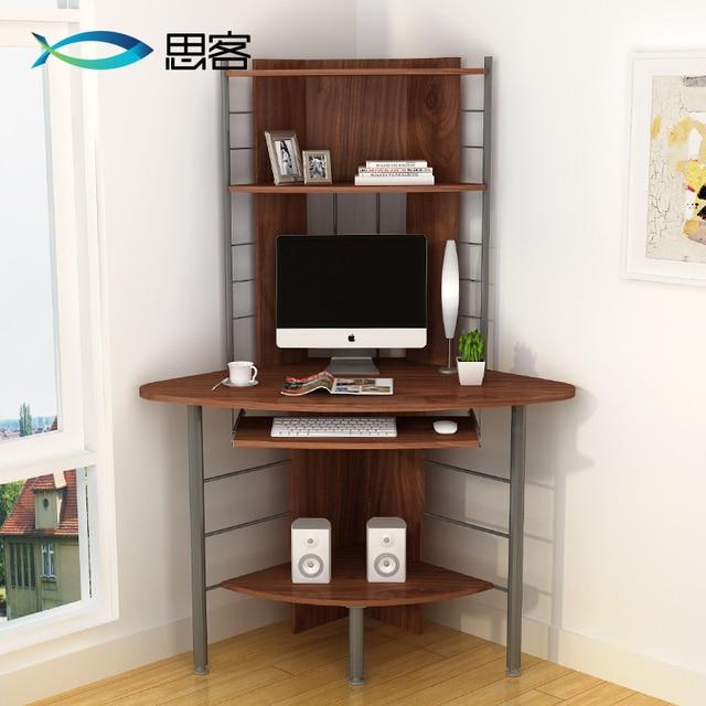 beste off koreaanse eenvoudige computer bureau hoek bureau boekenkast combinatie bureau hoek driehoek bit desktop