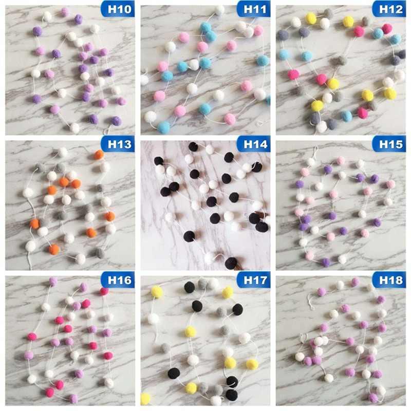 2 M, decoración de bolas de colores hecha a mano con bolas, tienda para niños y bebés, accesorio de decoración para habitación, juguete colgante de pared