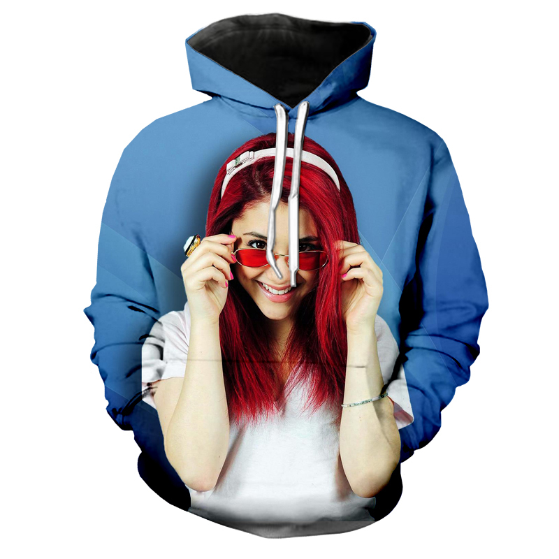 f9ac297d5 2018 New Men/Women Fashion Hoodies USA Singer Ariana Grande 3D Print Pocket Hoodie  O