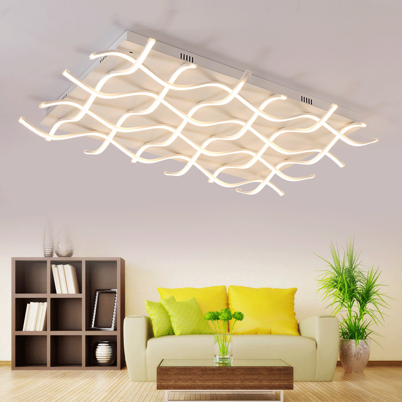 Rectangle Acrylic Modern LED Ceiling Light For Living Room Bedroom Unique Square Home Lamp Overhead