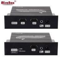 MiraBox Беспроводной HDMI Extender Поддержка 1080 P Full HD Беспроводной Extender 30 м 98ft сетевой кабель удлинитель 120 м 393ft ИК-двойной антенны