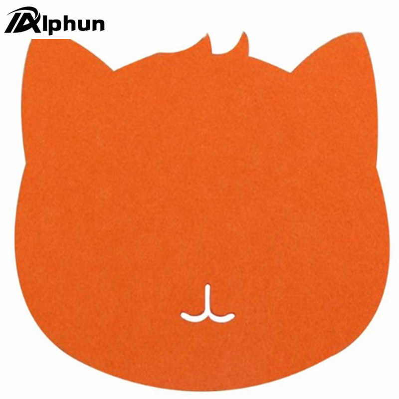 1PC Mouse Pad Panas Kucing Bentuk Gambar Anti-Slip Laptop PC Mouse Pad Mat Mousepad Game Komputer mouse Optik Alat Aksesoris