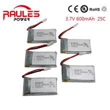 5 batterieshigh quality 3.7 V 600 mAh 25C Lipo Battery WLtoys V931 SYMA X5C Quadcopter Drone 92M4 3.7v lipo battery