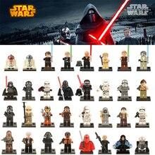 Одиночная продажа Legoing Звездные войны Luke Leia Han Solo Anakin Дарт Вейдер Йода Джар Джар Здание Блоки Игрушки starwars legoings figure
