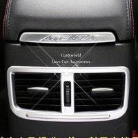 2013 2014 2015 mazda 6 후면 에어컨 콘센트 커버 트림 인테리어 abs 크롬 장식 자동차 스타일링 액세서리 2 pcs