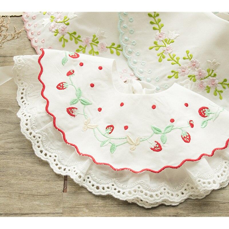 Baby bibs baby stuff for newborns cotton Embroidery floral baby feeding bibs silicone newborn bibs