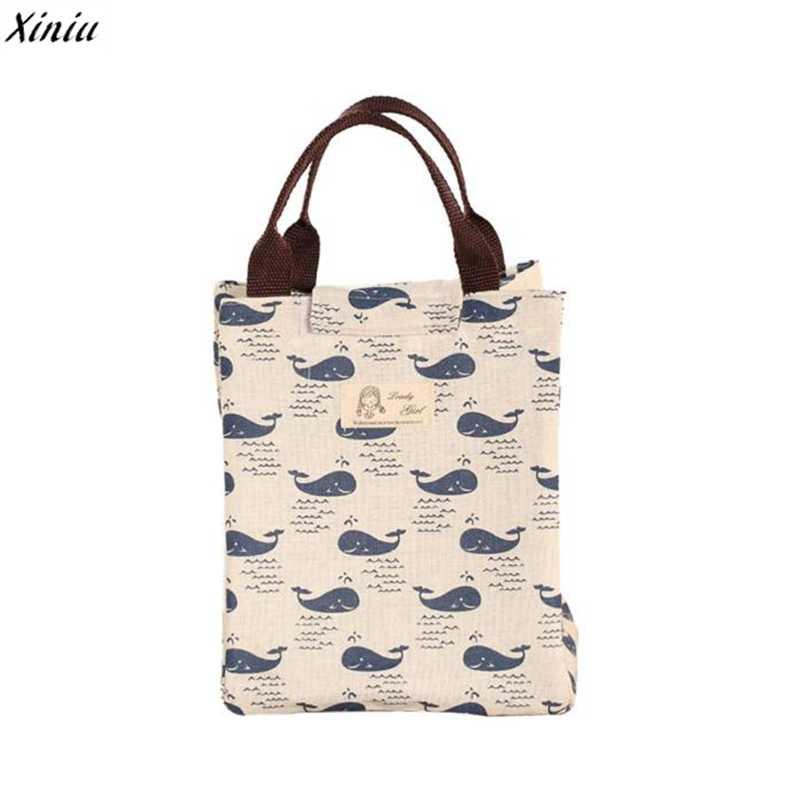 84381f644c8b ... Xiniu 2018 непромокаемый мешок для женщин дети мужчины охладитель ланч  бокс сумка Холщовая Сумка-тоут ...
