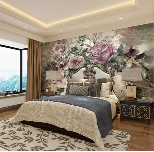 European Retro Photo Wallpapers Murals for Living Room Bedroom Wall ...