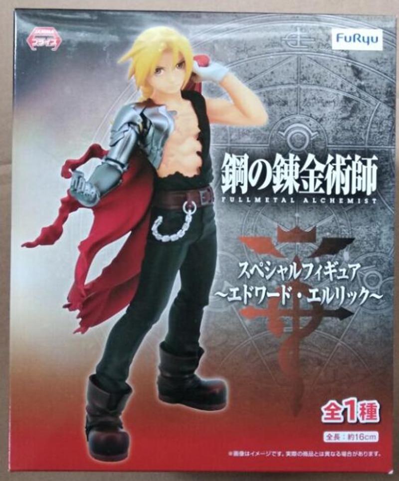 WSTXBD Original Furyu Fullmetal Alchemist Edward Elric PVC Figure Toys Figurals Model Kids Dolls