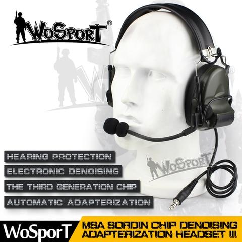 tactical comtac ii headset reducao de ruido cancelamento de captacao de som eletronico para duas