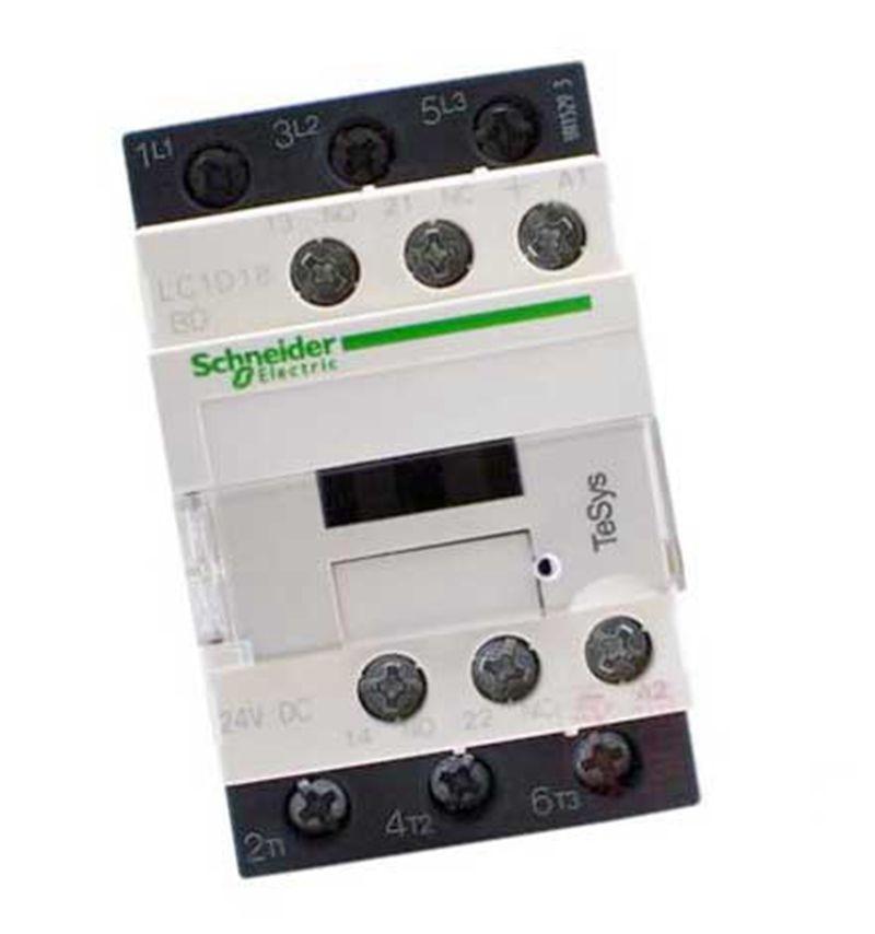 New LC1D18BDC Contactor TeSys D 18A DC 24V LC1-D18BDC new cad32mdc dc220v tesys d series contactor control relay 3no 2nc