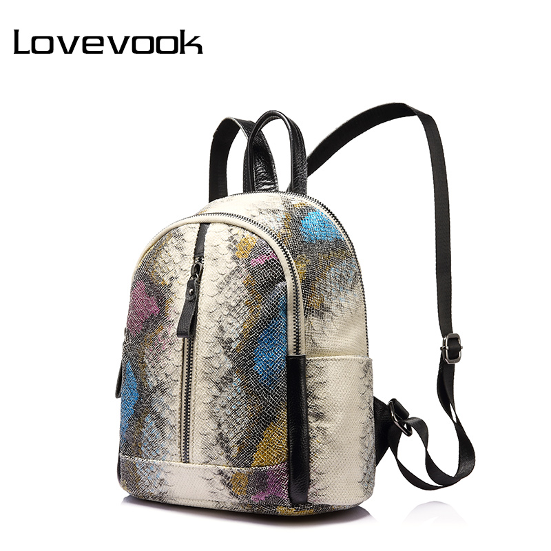 LOVEVOOK functional women backpack with high quality PU female backpacks for girls with multi-pockets and serpentine prints 1000g 98% fish collagen powder high purity for functional food