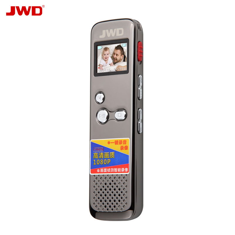 JWD Newest Voice reduction Dictaphone With HD Camera Voice recorder Color Screen Intelligent Recording TF For
