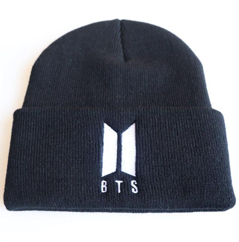 BTS autumn MEOW Cap Men Women Casual Hip Hop Hats Knitted   Skullies     Beanies   Hat Warm Winter Hat For Women   Beanie