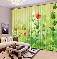 3d curtains print painting Green Living room bedroom decoration wedding customize window curtains