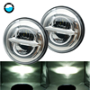 Newest 2pcs 7Inch 50W LED Headlamps For Jeep Wrangler Lada Niva 4x4 For LADA VAZ 2101