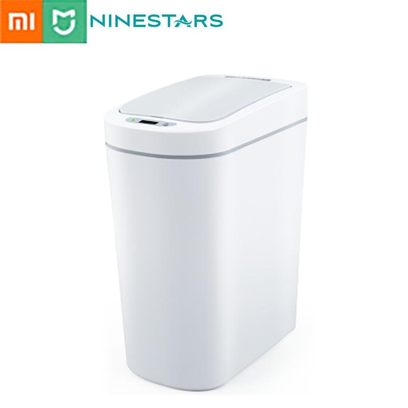 NINESTARS Smart Trash Can Motion Sensor Auto Sealing LED Induction Cover Trash 7L  Ashcan Bins Ipx3 waterproof|Waste Bins|   - AliExpress