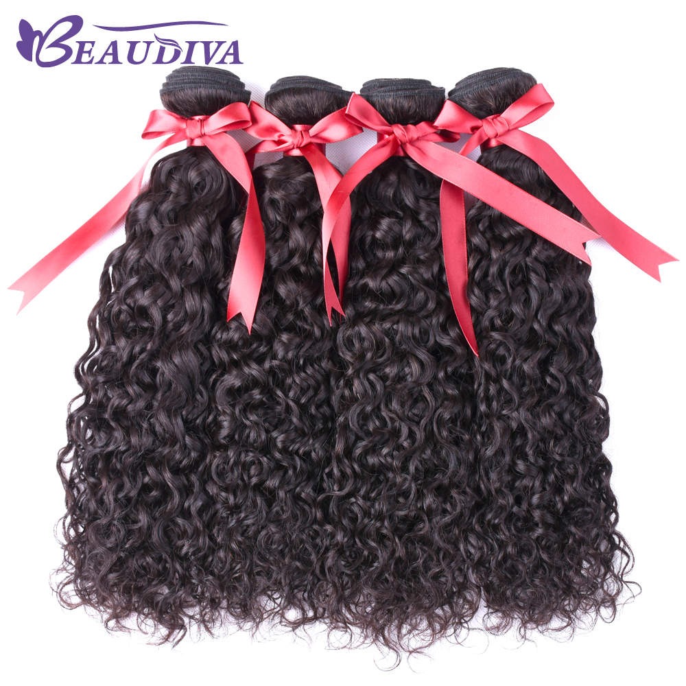 Beaudiva Water Wave Hair 5 pcs one pack Bundles Peruvian Hair Weave Bundles 100% Human Hair Extensions NonRemy Hair