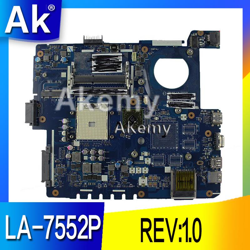 AK K53Z Laptop Motherboard For ASUS K53TA K53TK K53T K53 K53Z Test Original Mainboard LA-7552P REV:1.0