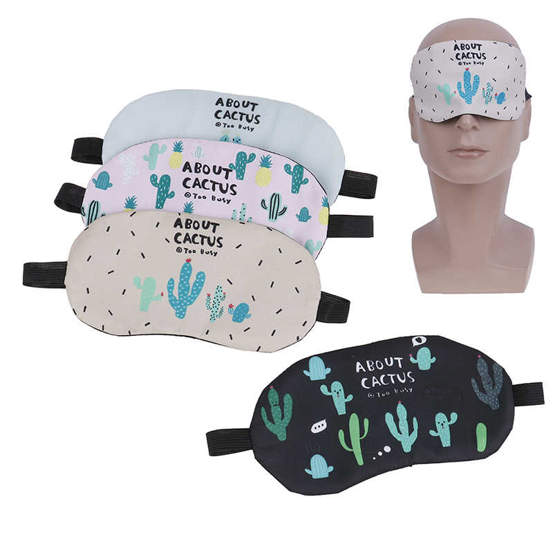 1 Pza suave acolchada cubierta de sombra para dormir Linda máscara de dormir descanso cómodo relajación venda de ojos para dormir ayuda parche de ojo