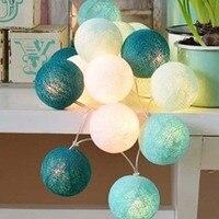 20 35 cái Màu Xanh BÔNG BÓNG Lights New Năm Đèn Giáng Sinh Luminárias Vòng Hoa Lồng Đèn LED Dây Đèn Home Trang Sức Cưới