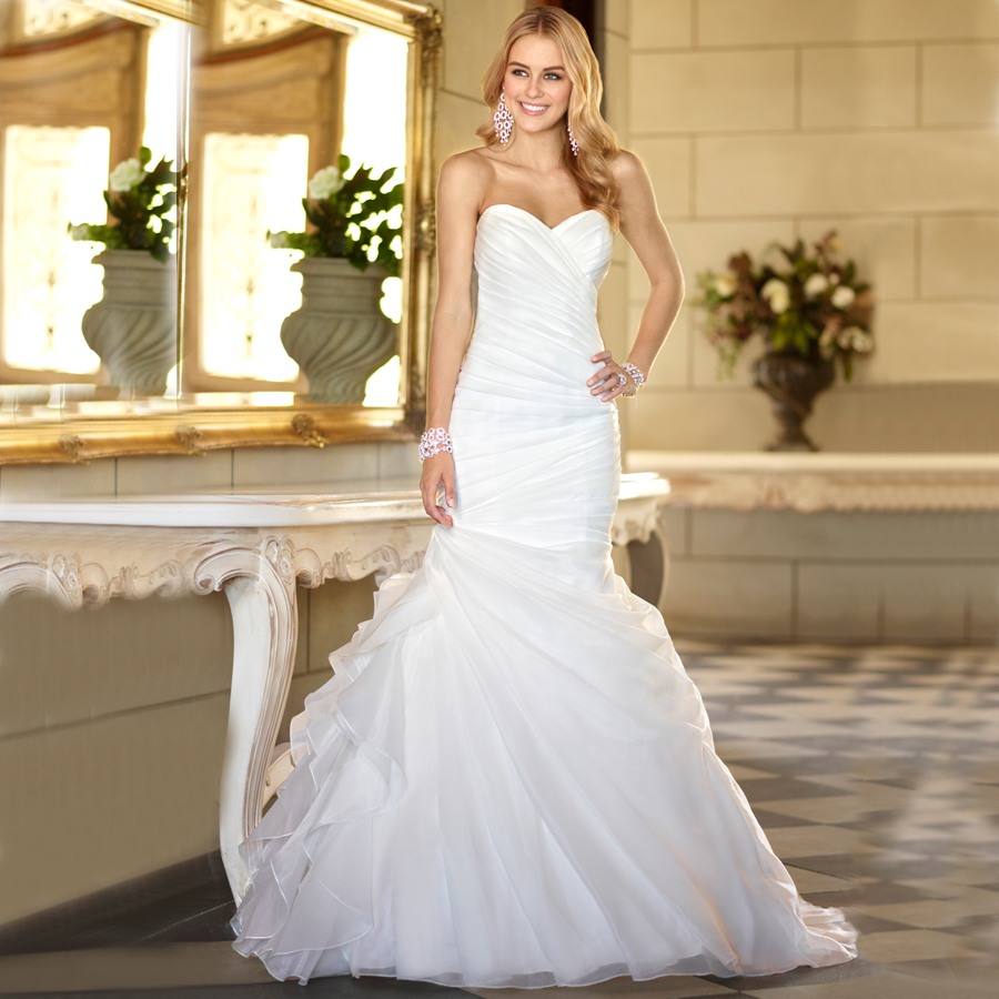 Simple Wedding Dresses Vogue: WV276 In Stock New Fashion Real Photo Bridal Gown Custom