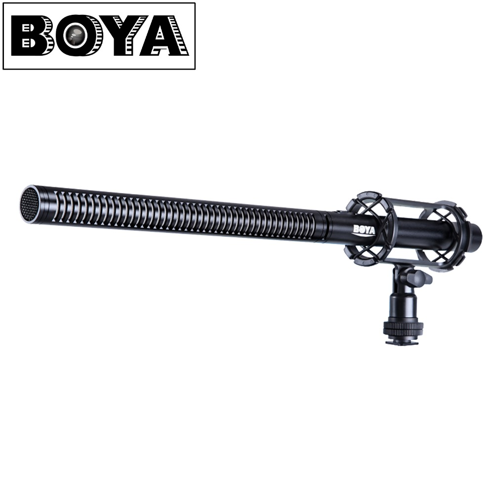 BOYA BY-PVM1000L Pro Shotgun Video Mic Camera Microphone for Canon Nikon Sony Video Cameras & Camcorders original new for nihon kohden pvm 2700 pvm 2703 pvm 2701 sb 201p x076 monitor rechargeable battery 12v 3700mah free shipping