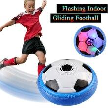 Светодиодный светильник с мигающим светом, воздушный футбольный диск, скользящий парящий футбольный мяч для игры в помещении и на открытом воздухе, игрушки для детей, подарки на Рождество