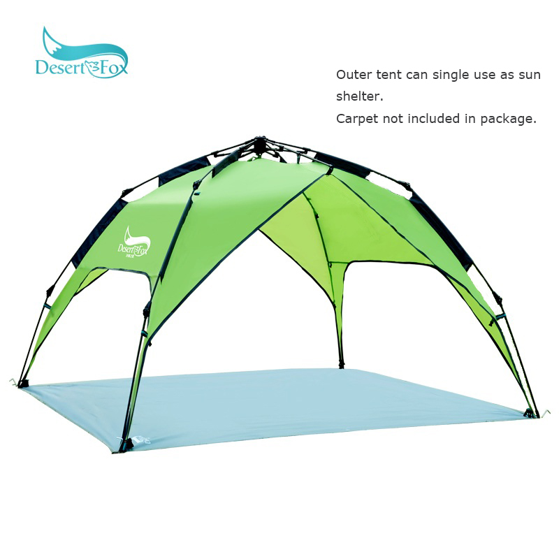 Desert&Fox Automatic Tent 3-4 Person Camping Tent,Easy Instant Setup Protable Backpacking for Sun Shelter,Travelling,Hiking-3
