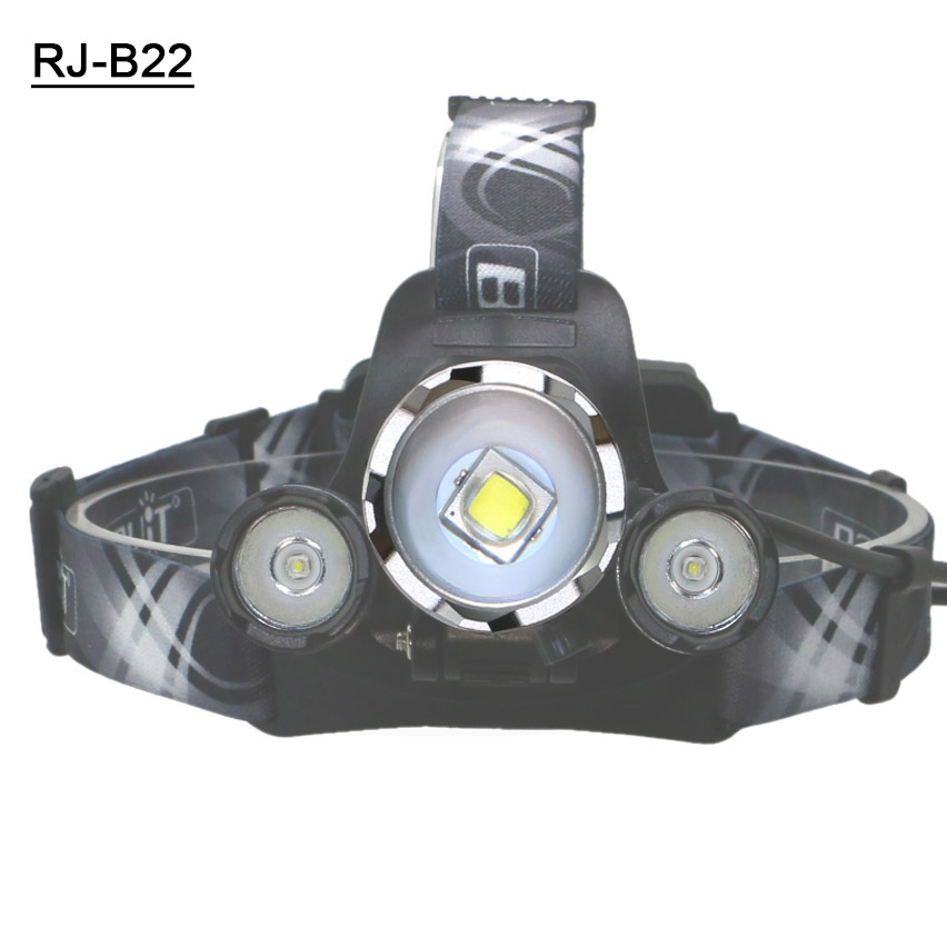 Boruit B22 L2 Zoomable Head lamp 9000LM Led Head Light CREE L2 Lights 18650 rechargeable headlight With Usb Cable