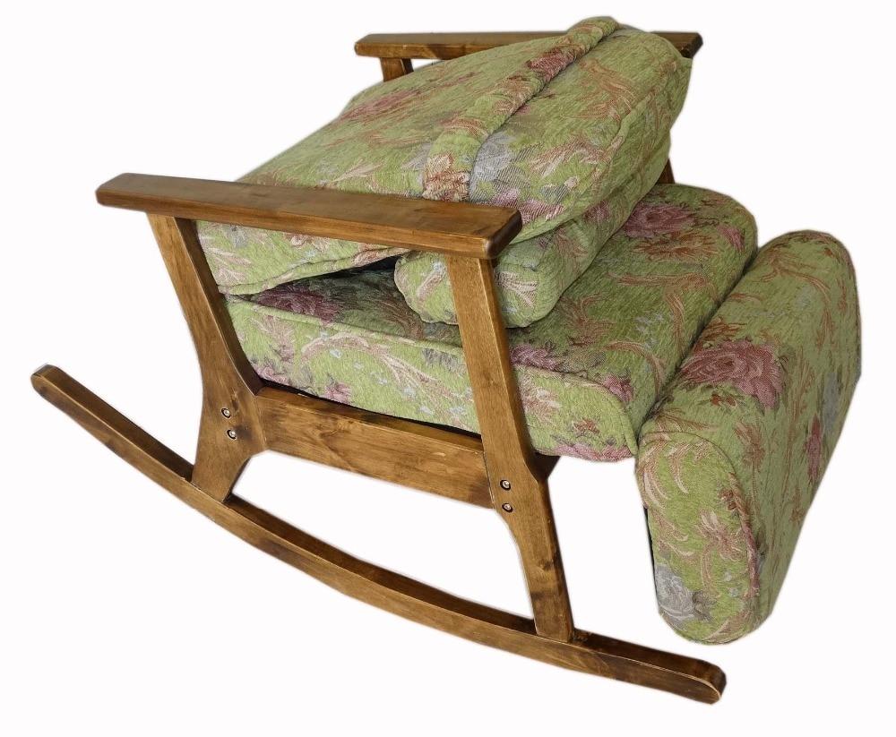 Taman Kursi untuk Orang Tua Gaya Jepang Kursi dengan Footstool Sandaran Tangan Modern Indoor Kursi Goyang