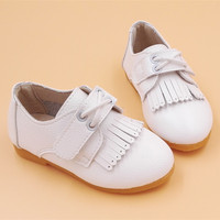 baby girl shoes toddler princess kids leather flat shoes children white pink black bebe Tassel chaussure enfant chaussure enfant