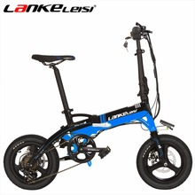 LANKELEISI A6 Mini 14Inch Folding Electric Bicycle Motor 240Watt Battery 36V Lithium Electric Bike 5 Colors