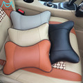 2PCS Car Neck Pillow Headrest PU Leather With Air Hole,4Colors Auto Accessories Free Shipping