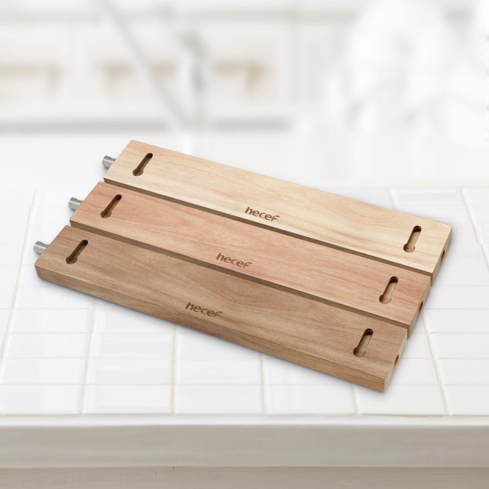 Hecef 6 12 Inches Magnetic Knife Strip Acacia Wooden Knife Holder for Storaging All Kinds of Metal Items in Blocks Roll Bags from Home Garden