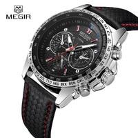 MEGIR Men S Watches Top Brand Luxury Quartz Watch Men Fashion Casual Luminous Waterproof Clock Relogio